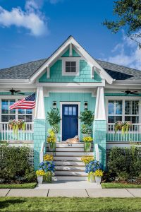 Teal and Blue home