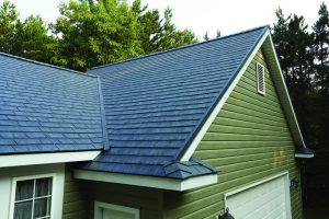 Grey asphalt roof
